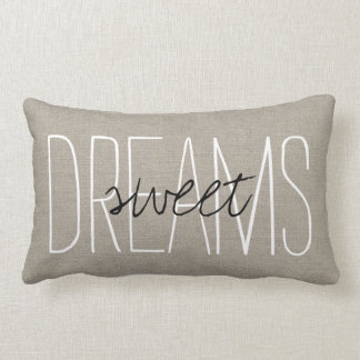Rustic Chic Sweet Dreams Lumbar Pillow