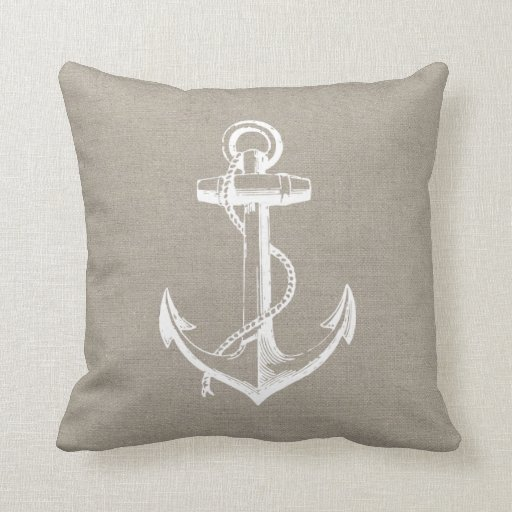 Rustic Chic Vintage Anchor Pillows