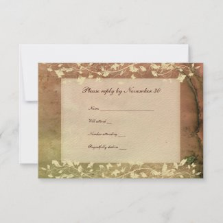 Rustic Chic Warm Colors rsvp with envelopes