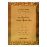 Rustic Chic Warm Colors Wedding Invitation