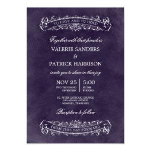 Rustic Chic Wedding Invitation - Purple 5