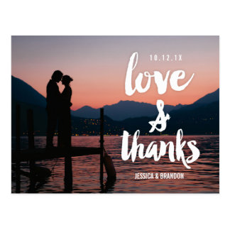 Rustic Chic  Wedding Thank You Postcards