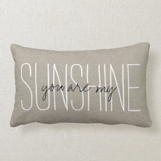 Rustic Chic You Are My Sunshine Pillow