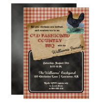 Rustic Chicken Backyard Cookout BBQ Picnic Card