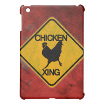 Rustic Chicken Crossing Sign Cover For The iPad Mini