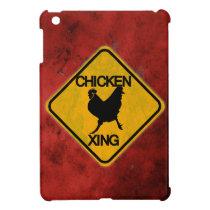 Rustic Chicken Crossing Sign iPad Mini Case
