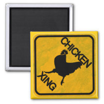 Rustic Chicken Crossing Sign Magnet