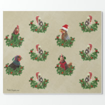 Rustic Chicken Holiday Wrapping Paper
