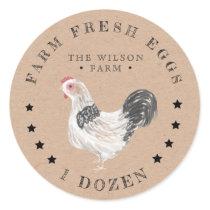 rustic chicken kraft Egg Carton Sticker