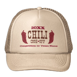 Rustic Chili Cook Off Competition Hats