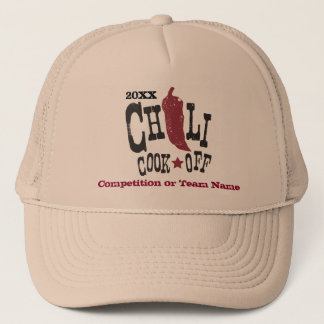 Rustic Chili Cook Off Competition Trucker Hat