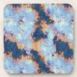 Rustic Chipped Paint Textured Pattern Drink Coaster