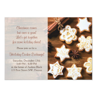 Rustic Christmas Cookie Swap Holiday Party Card