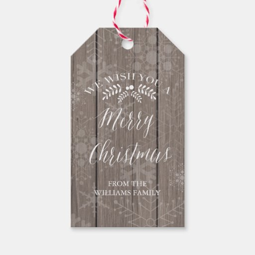 Rustic Christmas Gift Tags Pack...