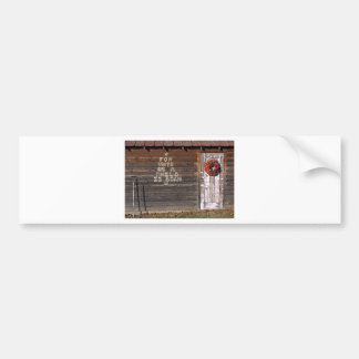 Rustic Christmas Graffiti Bumper Sticker