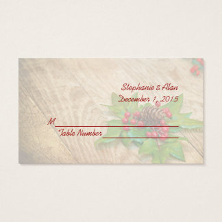 Rustic Christmas Holly Wedding Place Cards