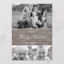 Rustic Christmas Photo Card