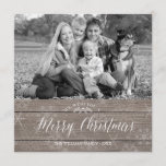 "Rustic Christmas Photo Card<br><div class=""desc"">Rustic Christmas photo card. Customizable. Part of a christmas collection.</div>"