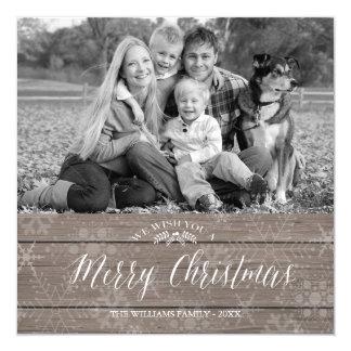 Rustic Christmas Photo Card
