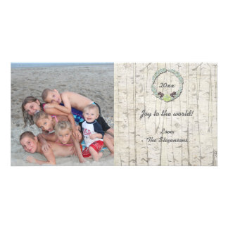 Rustic Christmas Photo Card Birchwood groupon