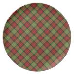 Rustic Christmas Plaid Plate