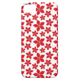 Rustic Christmas Red Poinsettia Pattern iPhone SE/5/5s Case