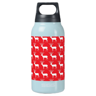 Rustic Christmas Reindeer Pattern Insulated Water Bottle