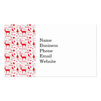 Rustic Christmas Reindeer Trees Birds Holiday Business Card