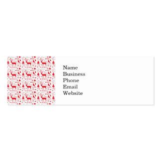 Rustic Christmas Reindeer Trees Birds Holiday Mini Business Card