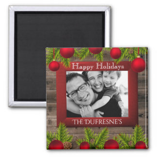 Rustic Christmas w/Photo Magnet