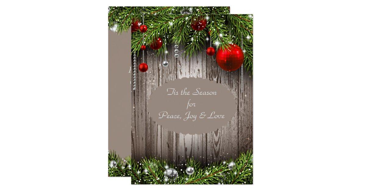 Rustic Christmas Wedding Invitation Zazzle