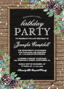 birthday theme christmas invitations zazzle