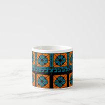 Rustic Clover pattern Espresso Cup