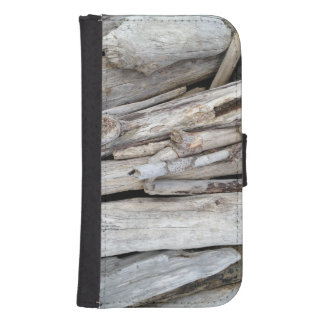 Rustic Coastal Beachy Driftwood Stack Phone Wallet