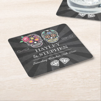 Rustic Coasters Place Halloween Wedding Party