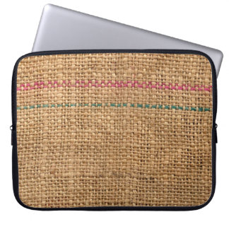 Rustic Coffee Bag Material Computer Sleeve