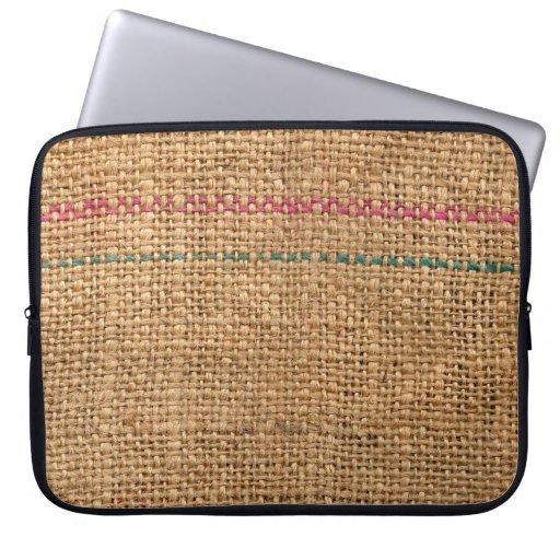 Rustic Coffee Bag Material Computer Sleeve