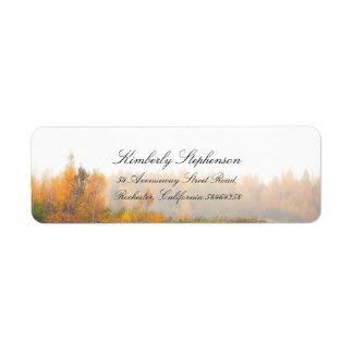 Rustic Colorful Fall Wedding Label