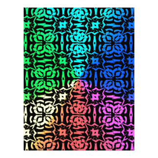 Rustic Colorful Pattern and shapes Letterhead