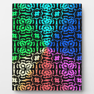 Rustic Colorful Pattern and shapes Plaque