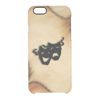 Rustic Comedy and Tragedy Theater Masks Clear iPhone 6/6S Case