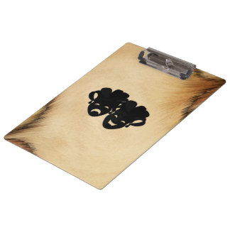 Rustic Comedy and Tragedy Theater Masks Clipboard