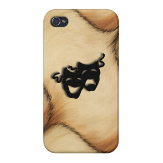 Rustic Comedy and Tragedy Theater Masks iPhone 4/4S Cases