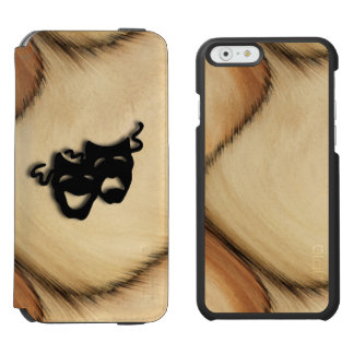 Rustic Comedy and Tragedy Theater Masks iPhone 6/6s Wallet Case