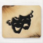 Rustic Comedy and Tragedy Theater Masks Mouse Pad