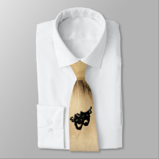 Rustic Comedy and Tragedy Theater Masks Neck Tie