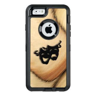 Rustic Comedy and Tragedy Theater Masks OtterBox Defender iPhone Case
