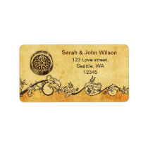 rustic compass nautical wedding address labels