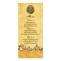 rustic compass nautical wedding menu cards