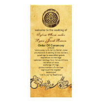rustic compass nautical wedding program